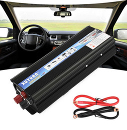 Dc power supply inverter online shopping - XUYUAN Car Inverter W DC V AC V Vehicle Power Supply Switch On board Charger