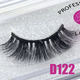 Discount shortest false eyelashes - LASGOOS 1 Pair Boxed 100% Mink 3D Fluffy C Curl Fake Lashes Eye Downy Short 12mm False Eyelashes D122