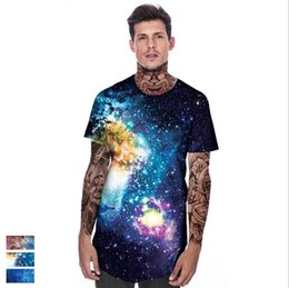 $enCountryForm.capitalKeyWord NZ - Explosion starry sky 3d digital printing summer tide brand bottoming shirt leaves sports casual short-sleeved T-shirt men's clothing