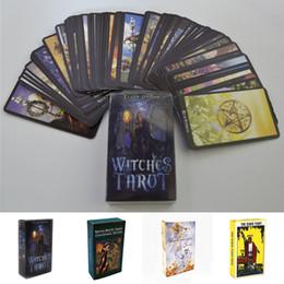 4 Estilos de Cartas de Tarô Bruxa Rider Smith Waite Shadowscapes Tarot Deck Jogo de Tabuleiro Cartões com Caixa Colorida Inglês Versão SS178 em Promoção
