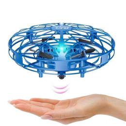 Wholesale 3 styles Gesture Induction Aircraft 11cm UFO Four-axis Sensor Suspension Intelligent LED Luminous Aircraft Children's Interactive Toys L549
