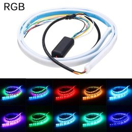 $enCountryForm.capitalKeyWord UK - Ultra-Thin Car Water Turn Signal Modified Colorful Led Streamer Trunk Decorative Lights Driving Lights 1.2 Meters