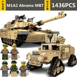 Model Military Tanks Australia - 1463pcs KAZI Technic Military Theme Tank Diy Building Blocks M1A2 Abrams MBT Model Compatible with Legoingly Toys For Children