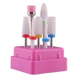Wholesale Spot Wholesale Nail Art Ceramic Polishing Head Set 7pcs Polishing Head Polishing Machine Nail Remover Drill Ceramic Head