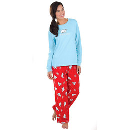 67e973a500 2019 Women Mommy Pajamas Cartoon Blouse Pants Family Pajamas Sleepwear  Matching Christmas Set female pajama New Fashion