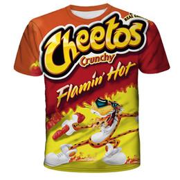 Wholesale food t shirts online – design T shirt Men New Hip Hop Fashion d Burger fries fast food loose Unisex Summer Tops Tees Loose t shirt men Plus Size XL