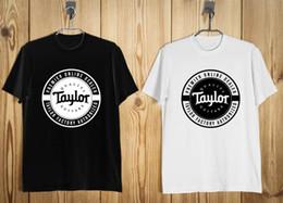 Black S Guitar NZ - Taylor Guitar Logo Men's T-Shirt Black White S-2XLFunny free shipping Unisex Casual Tshirt