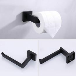 $enCountryForm.capitalKeyWord Australia - 2019 Toilet Paper Holder Kit Shelf Wall Mount Black Stainl Steel Kitchen Bathroom Accories Single Roll Hanger