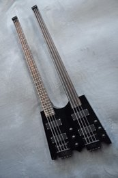 $enCountryForm.capitalKeyWord Australia - High quality black headless double neck 4+ 4 string bass electric guitar for personalized service