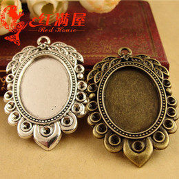 $enCountryForm.capitalKeyWord Canada - A2744 30*47MM Fit 25*18MM Antique Bronze oval metal stamping blanks, tibetan silver bezel pendant base tray, cameo cabochon setting