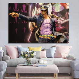 Adventure Figure NZ - This JoJo's Bizarre Adventure Statue Poster Painting On Canvas Decoration Pictures For Living Room Home Decor