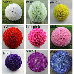 "$enCountryForm.capitalKeyWord Australia - 30CM 12"" New Encryption Artificial Rose Silk Flower Kissing Balls Hanging Ball Christmas Ornaments Wedding Party Decorative Flowers"