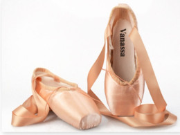Pink canvas ballet shoes online shopping - Women Professional Ballet Dance Pointe Shoes