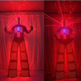 robot suit costume 2020 - Laser Suits Robot Costume David Guetta LED Robot Suit With Laser Helmet illuminated kryoman Robot led stilts clothes che
