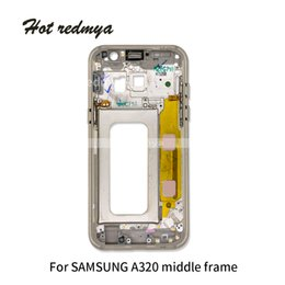 $enCountryForm.capitalKeyWord Australia - 1Ps Middle Frame Bezel For Samsung Galaxy A3 A320 A5 A520 A7 A720 2017 Version Mid Chassis Housing With Power On off Side Button