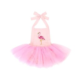 Infant Tutus Wholesale Australia - Ins flamingo Girls Dresses baby romper Newborn Tutu Dresses Newborn Romper Infant Jumpsuit Baby Dress newborn baby girl clothes