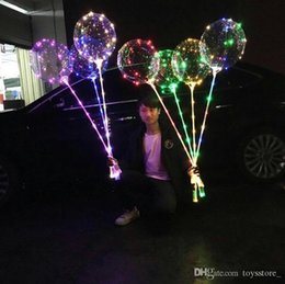 balloons for weddings NZ - LED Balloon Luminous Latex Balloons Wedding Room Birthday Party Decoration Ball Lighted Toys For Kids New Year Gift With Stick