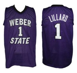 6a49119cb218 Damian Lillard  1 Weber State Wildcats College Retro Basketball Jersey  Men s Stitched Custom Any Number Name Jerseys