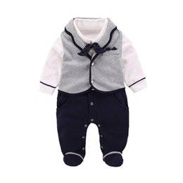 Cotton For Babies Australia - Cotton Baby Boy Romper New Born Baby Clothes Autumn Winter Overalls For Children New Year 3 6 9 Months Baby Rompers Vests 2pcs J190524