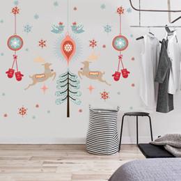 $enCountryForm.capitalKeyWord Australia - Creative Christmas Gloves Deer Snowflakes Tree Wall Sticker DIY Window Glass Mall Store Decoration Self-adhesive Wallpaper Decal
