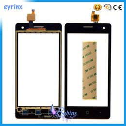 "Zte Blade Digitizer Screen NZ - 4.5"" With tape Phone Touch Sensor Front Glass For ZTE Blade A210 Touch Screen Digitizer Panel Outer Lens + Tracking No."