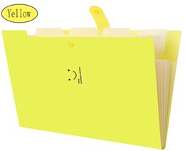 Plastik Genişleyen Dosya Klasörleri Akordeon Döküman Düzenleyici A4 Snap Kapanması ile Mektup Boyutu (Sarı) indirimde
