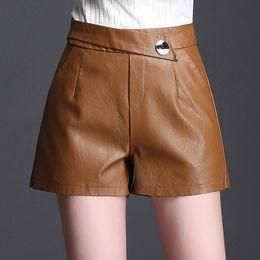 Leather Leg Australia - Women Clothes Wide Leg Leather High Waist New Korean Thin Large Size A Word Pants Pu Leather Women Pants