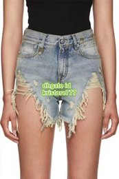 Vintage trousers girl online shopping - High End Women Vintage Hole Denim Shorts With Tassel Irregular Shorts Pants Girls Casual Cowboy Runway Female Jeans Shorts Milan Trouser