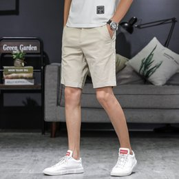 Wholesale lightweight summer suits for sale - Group buy 2019 Summer Men s Casual Soft shorts five pants Simple elegant and Stylish Suit Middle aged Cotton shorts