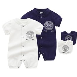 Wholesale prussian clothing online – design Newborn Toddler Infant Baby Boys Baby Girls Unisex Short Romper Jumpsuit Outfits Sunsuit Clothes M
