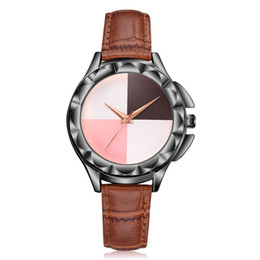 Black Blocks Australia - Fashion Women's Casual Luxurious Watch Women Color Block Beautiful Simple Watch Ladies Leather Belt Gift bayan kol saati