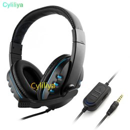 Gaming Pc Ps4 Australia - Wired 3.5mm gaming Headset Headphone Earphone Music Microphone For PS4 XBOX-ONE Game PC Chat fone de ouvido Headphones