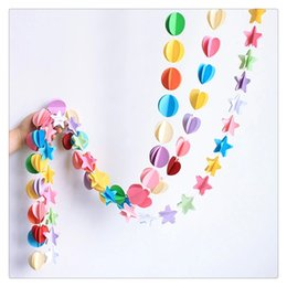 wholesale christening decorations UK - Birthday Decor Colorful Paper Garland Banner for Home Party Decoration Nursery Christening Brand New And High Quality