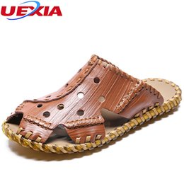 $enCountryForm.capitalKeyWord Canada - UEXIA New Sport Sandals Men Leather Beach Sandals Soft Rubber Sole Summer Slipper Male Outdoor Shoes Sasual Sneakers Comfortable