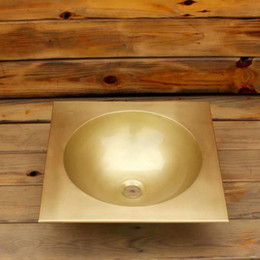 Sinks Product Australia - square brass bathroom basin washbasin small household washbasin sink copper product