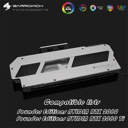 Discount gpu water block - Barrow GPU Block Full Cover For Founder edition RTX2080Ti 2080 LRC2.0 5V OLED Display Thermometer + Full Aluminum Panel