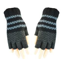Warmest Gloves Australia - Unisexy Knitted Glove Fingerless Fitness Gloves Warm outdoor Fingerless Knitted Gloves For Winter Autumn Spring DHL Free 100pcs