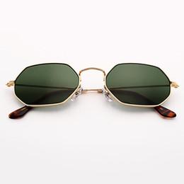Опт Bolo.ban 3556 Шестигранные солнцезащитные очки женщины мужчины 53мм стеклянные линзы зеркальный щит солнцезащитные очки óculos de sol Gafas UV400