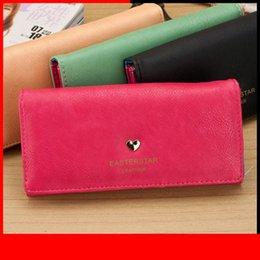Clutch Wallet Lady Purse Handbag Australia - New Arrivals Fashion Women Wallet Long Cards Id Holders Cute Heart Lady Handbag Moneybags Soft Pu Leather Purse Clutch Wallets