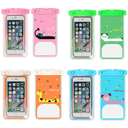 $enCountryForm.capitalKeyWord Australia - Cartoon Transparent PVC Outdoor Swimming Mobile Phone Waterproof Bag Hanging Neck Water Sports Mobile Phone Protective Cover