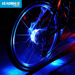 lamp cycle Australia - 2pcs Cycling Lights Waterproof Mtb Road Bike Front Rear Spoke Wheel Decoration Lamp New Design Safety Warning Bicycle Hubs Light