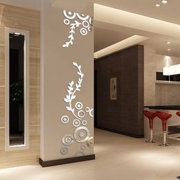 Modern Mirror 3d Wall Stickers Australia - Creative Circle Ring Acrylic Crystal Mirror Wall Stickers DIY 3D Decal Wall Home Decor Bedroom Living Room Wallpaper Decoration