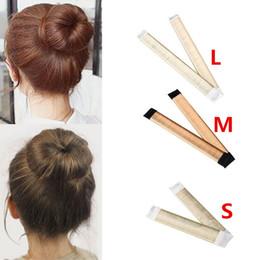 $enCountryForm.capitalKeyWord Australia - Ball Bend Magic Bun Wig Flexible French Chignon Hair Bands Making Style Hair Accessories for Women Kids