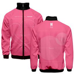Zipper 3d Australia - BTS Zipper Sweatshirt Standing collar Male&Female 3D Print Streetwear New Autumn Stand Thin Casual Jacket BTS Accessories
