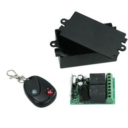 $enCountryForm.capitalKeyWord UK - Wireless Remote Control Switch RF 433Mhz AC 220V 2CH Relay Receiver Module and Learning Code Transmitter Remote Control
