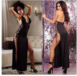 $enCountryForm.capitalKeyWord Australia - FQQ1023 DJ Women hot sale sexy lingerie hot pole dance Long dress langerie sexy underwear erotic lenceria sexy costumes