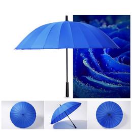 $enCountryForm.capitalKeyWord Australia - 24 Ribs Windproof Samurai Sword Sun Rainny Umbrella Ninja-like Straight Long Handle Ribs Manual Open Close Parasol Y1