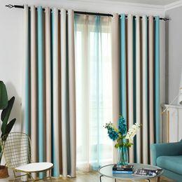 $enCountryForm.capitalKeyWord Australia - Blackout Hanging Striped Window Curtain Tulle Colorful Rainbow Nordic Style Elegant Drapes Shading Modern Living Room Home Decor