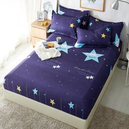 $enCountryForm.capitalKeyWord UK - Polyester Blue Purple Sky Printed Kids Bed Sheet Bedding Fitted Sheets Mattress Cover Bedspreads With Elastic Band Bedsheet