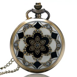 Jade Dresses Australia - Women's Gift Jade Crystal Diamond Designer Quartz Pocket Watch Simple Antique Steampunk Fob Time Necklace Chain